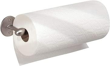 iDesign Orbinni Wall Mounted Metal Paper Towel Holder, Roll Organizer for Kitchen, Bathroom, Craft Room, Satin Silver