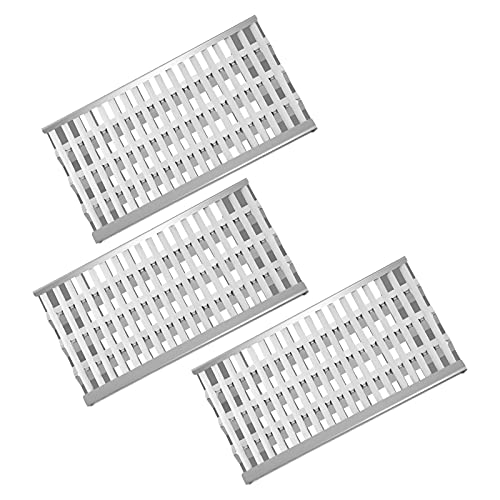 """Clivimi 18 5/8"""" Stainless Steel Grill Heat Plates Shield Flame Tamer Ceramic Rod Complete DCS Radiant Tray BBQ Gas Grill Replacement Parts for 27DBQR, BGA48-BQARL, 36EBQAR, BGA27-BQR, BGA36-BQARL Grill Heat Plates"""
