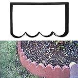 LEEDY Molde de plástico para crear losas de hormigón para el suelo o pavimento, para crear caminos en un jardín, reutilizable y duradero, negro