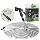 BOSNELL 50FT Metal Garden Hose, Dog Free and Kink Free,304 Stainless Steel Hose...