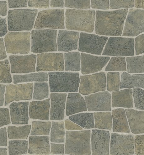 Brewster 414-44151 Flagstone Taupe Slate Path Wallpaper
