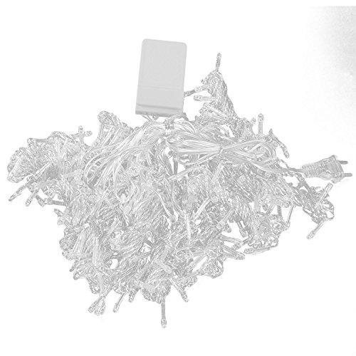 Gosear 3 x 3m Fantastico Parete Finestra Stringa Tenda Luce Lampada Decorazione per Natale Halloween Matrimonio Partito Casa Da Giardino Bianco Caldo