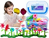 BIRANCO. Flower Garden Building Toys - Build a Bouquet Floral Arrangement Playset for Toddlers and...