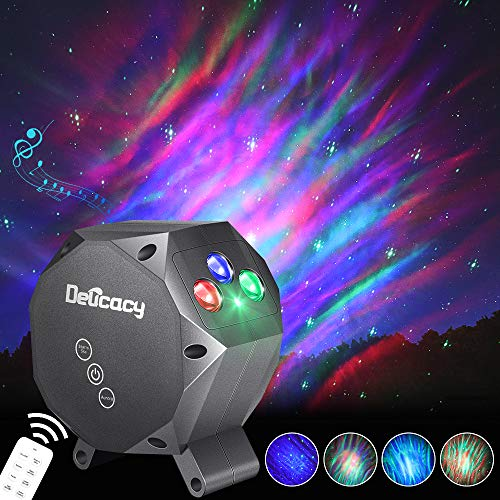 Star Projector,Delicacy Galaxy Projector Aurora Light Starry Night Light Projector,Bluetooth Music Speaker with Rotating LED Night Light for Home Theater Kids Adults Room Decoration