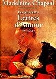 Les plus belles lettres d'amour - Anthologie