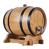 Vin Rouge Tonneau Fûts de Chêne Purs, Fûts de Chêne Cuits Au Four pour La Fabrication Du Vin et La Conservation Des Spiritueux Bière Pression (10L) Solide Fûts Chêne