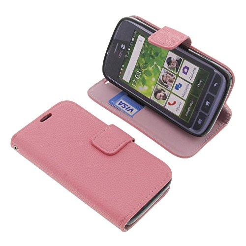 foto-kontor Tasche für Doro Liberto 820 Mini Book Style Pink Schutz Hülle Buch