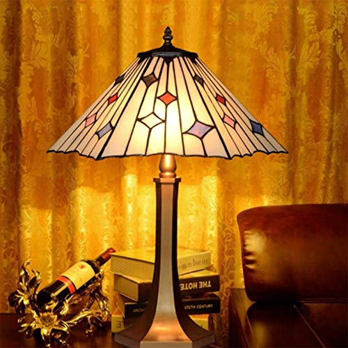 AWCVB Lámpara De Mesa Tiffany, Lámpara De Mesa De Mesa Europea Barroca De 16 Pulgadas.