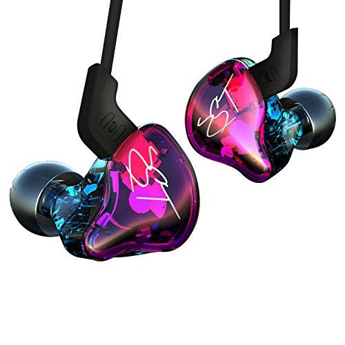 KZ-ZST Auricular Earbud En el Ruido de oído Cancelación HiFi Heavy Bass estéreo con micrófono para Teléfono Tablet PC MP3 MP4