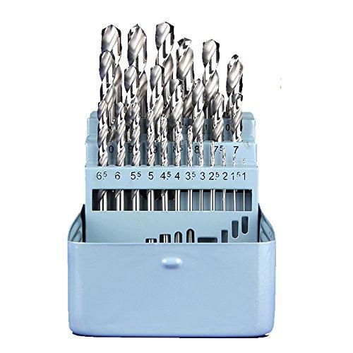 SHINA Top qualité Natural Couleur 25pcs Haute Vitesse Steel 4241 HSS Mèche 1mm-13mm pour électroforeuse Scie plastique Bois Aluminium