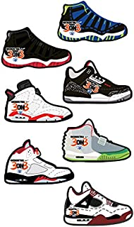 FreshandWipe Sneaker Style Auto Car Air Freshener Comes with Seven Great Fragrances with Elastic Holder (7 Count)