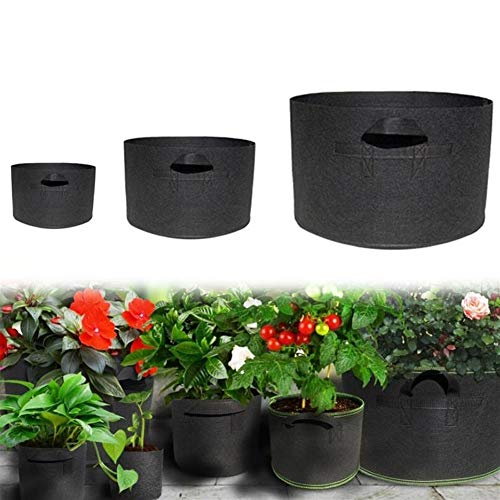 NoLogo Plant Grow Bags, Seedling Grow Bags Pot Home Garden Tools Strawberry Fabric Seedsplants Vegetable Jardin Growing (Size : 65 Gallon)