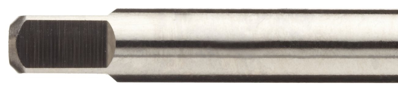 Round Shank with Square End UNC Uncoated H1 Tolerance Finish 2-56 Thread Size High-Speed Steel Spiral Point Tap Union Butterfield 1534NR Plug Chamfer Bright