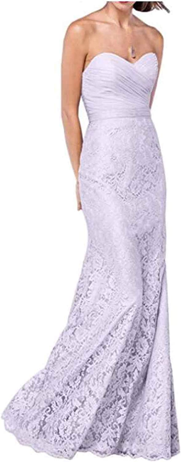 Alilith.Z Sexy Sweetheart Prom Dresses Mermaid Long Lace Formal Evening Dresses Party Gowns for Women