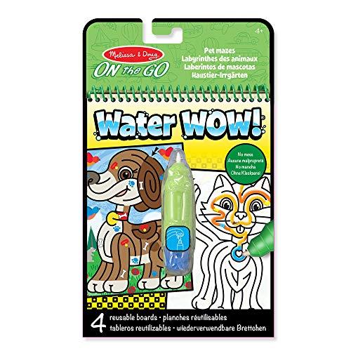 Melissa & Doug- Water Wow Pet Mazes-On The Go Juego de Dibujo,...