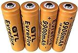 Pilas 18650 Pilas Recargable 3.7 V 5800mmAh de Iones de Litio de Alta Capacidad Baterías 1800 Ciclos de Larga Duración con Botón Superior Pilas para Linterna