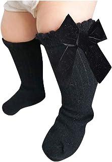medias para bebe y niña calcetines hasta la rodilla princesa calcetín para bebés calcetines antideslizantes con lazo de terciopelo alta rodilla calcetines larga