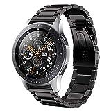 Sundaree Compatible con Correa Galaxy Watch 46MM,22MM Metal Acero Inoxidable Reemplazo Correa Banda Pulseras Reloj Inteligente con Metal Corchete para Samsung Galaxy Watch 46MM/S3 Frontier(46 Negro)