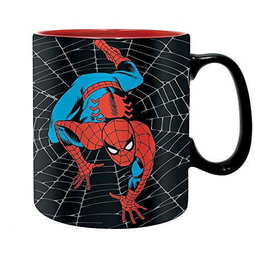 Spiderman Marvel Comics - Taza de cerámica (460 ml, caja de regalo), diseño de Spiderman