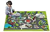 Kids Carpet Playmat City Life 3D Playroom Rug | 30 x 60 Inch Extra Large Toddler Activity Mat for Race Cars & Toys | Playroom Rug Makes a Fun Educational Gift Idea for Boys & Girls