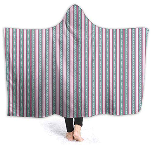 Xarchy Couverture Portable Hoodie-Peluche Couverture Chaude Romantique Printemps Jardin Couvertures moelleuses pour Le Voyage sur Le canapé-lit, Couvertures 80W par 60H Pouces (avec Capuche)