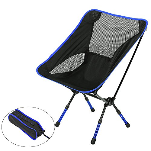 Outdoor-Stühle, Moon Lence Ultralight Heavy Duty Camping Folding Chairs, Portable Camping Chairs with Adjustable Height (light blue)