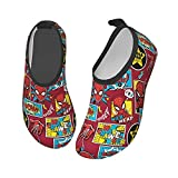 Cool Superheroes Kids Water Shoes Lightweight Non-Slip Water Skin Barefoot Sports Swimming Beach Pool Shoes for Boys Girls 30/31
