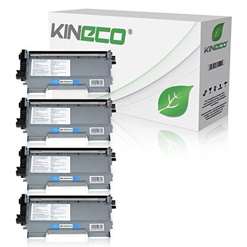 Kineco 4 Toner kompatibel für Brother TN-2220 DCP-7060 7065 7070 D N DN DW Fax 2840 2845 2940 2950 MFC-7360 7362 7460 7470 7860 N DN D DW