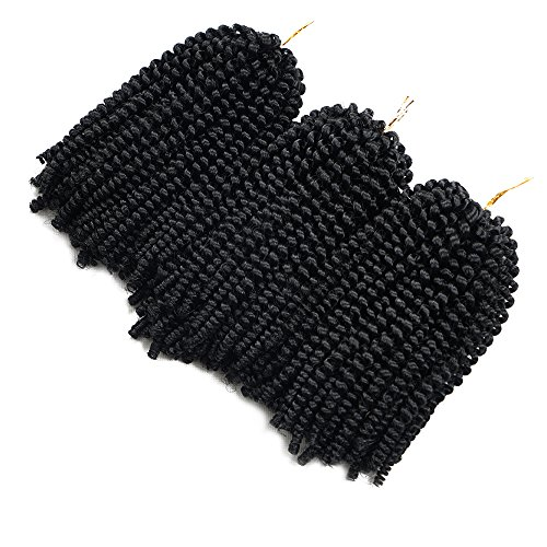 3 Pack Spring Twist Ombre Colors Crochet Braids Synthetic Braiding Hair Extensions Low Temperature Fiber (#1)