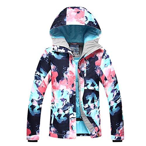 Ladies Ski Suit Kvinnors Utomhus Bergsklättring Rese Jacka Värmning Tjockning Dam Skidkläder Praktisk Utomhus Bergsklättring (Color : Blue, Size : Large)