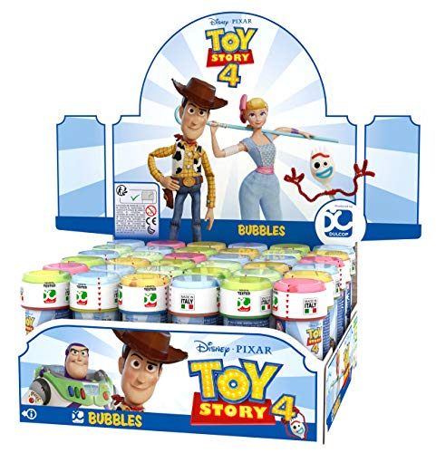 Fancy Me Box of 36 or 6 Bubble Pots - Boys Girls Toy Story 4 Bubbles Film Party Loot Bag Stocking Fillers Garden Game Ideas (6 Pots, Toy Story)