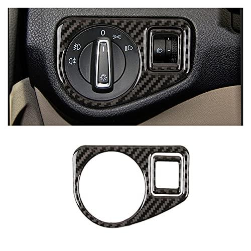 ZHIXIANG Ajuste para VW Golf 7 Mk7 VII 2013 2014 2015 2015 2016 2017 Carbon Fibre Fibra de Cabeza Cubierta del Interruptor de la Cubierta de la Cubierta de la Cubierta