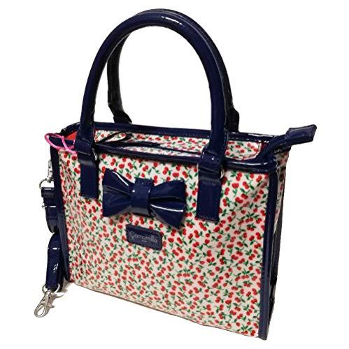 Camomilla borsa tracolla hand bag cherry (Blu)