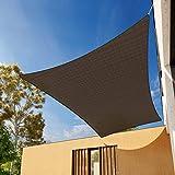 Zeyevan Toldo Vela De Sombra Rectangular 2x3 Metros, Protección Rayos Radiation-Proof Impermeable Toldo Resistente Y Transpirable, para Exteriores, Jardín, Piscina, Terraza (marrón Moca Color)