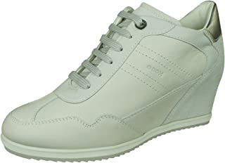 GEOX Womens Sneakers D Illusion B Nappa and Suede Leather Wedge Boots