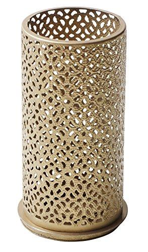 Duni Metallkerzenhalter Blliss Gold 140x75 mm für Stumpenkerzen oder LED`s Multicolour von Duni