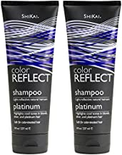 ShiKai Color Reflect Platinum Shampoo (Pack of 2) with Blue Malva Flower Extract, Sunflower Extract, and Jojoba Seed Oil, 8 oz.