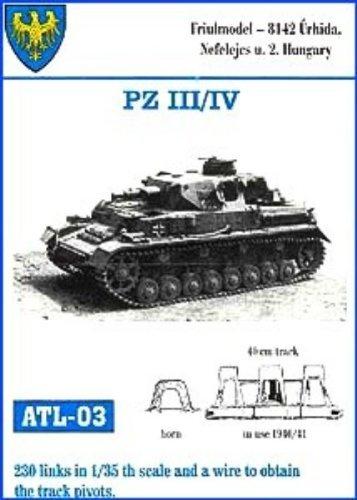 Friulmodel 1/35 Metal Track Link Set for Pz.III H-J & Pz.IV E. 40cm width with hollow horn.