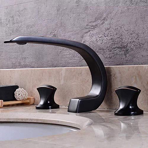 Chenbz En forma de hoz Cocina Cuarto de baño, Bañera Europea cobre antiguo, de tres piezas del grifo hermoso práctica
