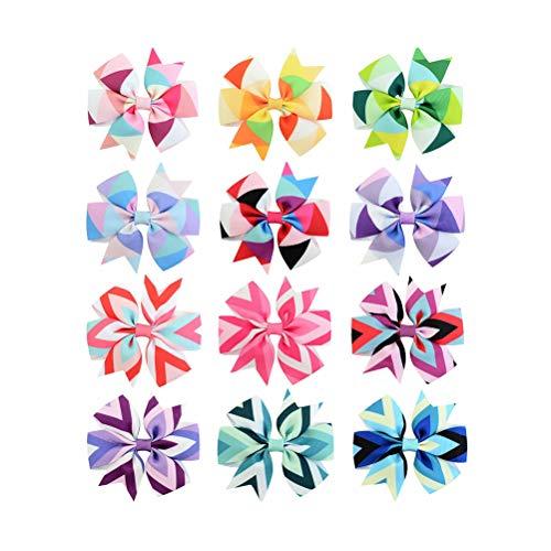 12 piezas arco horquilla horquilla raya arco horquilla