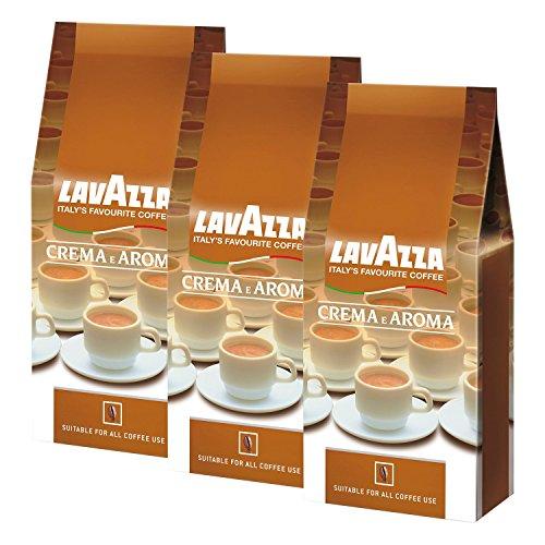 Lavazza Kaffee Crema E Aroma, gemahlen, 3 x 1Kg Packung