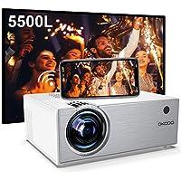 OKCOO Full HD 1080p 5500-Lumens LED Projector (Silver)