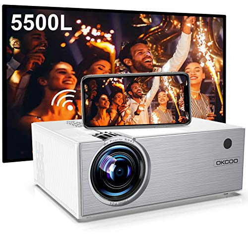 Mini Projector,WiFi Projector 5500L, Supports...