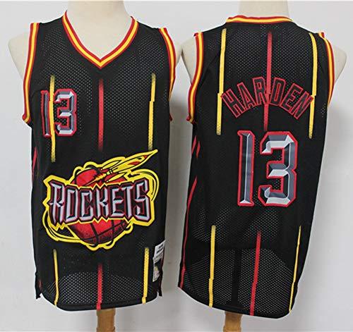 TGSCX Camiseta de baloncesto de la NBA Houston Rockets 13 # Harden cómoda, ligera, transpirable, de malla bordada, talla XL