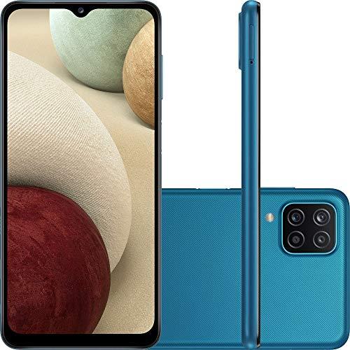 "Smartphone Samsung Galaxy A12 Dual Chip Android Tela 6,5"" Octa-Core 2.3GHz 64GB 4G Câmera 48MP(Principal)+5MP(Ultra Wide)+2MP(Profundidade)+2MP(Macro) - Azul"