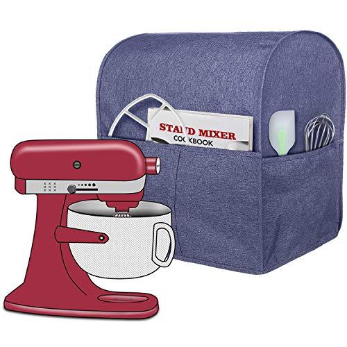 Homai Staubschutz kompatibel mit KitchenAid Standmixer, Stoffbezug mit Taschen für zusätzliche Befestigungen (lila)