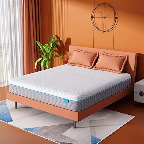 Vesgantti 12 Inch Memory Form Hybird King Size Mattress Ergonomic Design with Breathable Foam and Pocket Spring Mattress King Size Medium Plush Feel