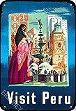 ERMUHEY The Funny Visit Peru Südamerika Wanddekor, Vintage