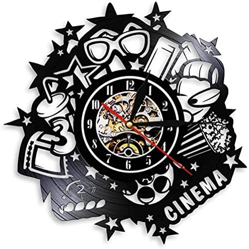 Reloj De Pared Decoración De Película Moderna Reloj De Pared Con Disco De Vinilo Con Diseño Led Obtenga Regalos Únicos Regalos Para Cumpleaños Ideas Navideñas Para Niños, Niñas, Hombres, Mujeres, Adul