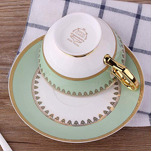 Acoome Tea Cup And Saucer Set-6.8oz Bone China Teacup Fine Dining And Table...